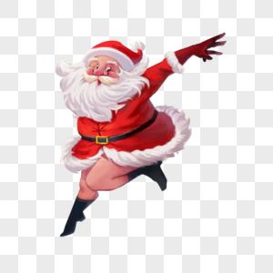 跳舞的圣诞老人图片