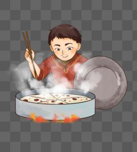 春节新年蒸年糕图片