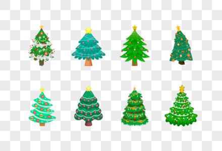圣诞树组合图片