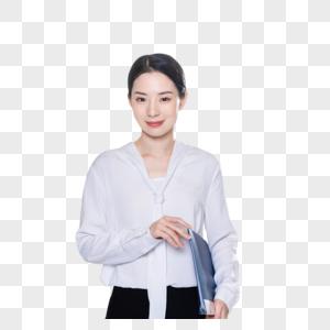 商务女性工作文件夹图片