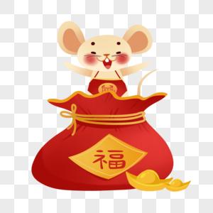 福袋上的春节老鼠图片