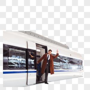 青年男性高铁出行图片
