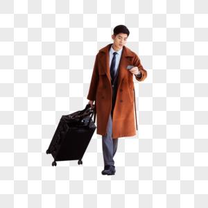 商务男性高铁出行图片