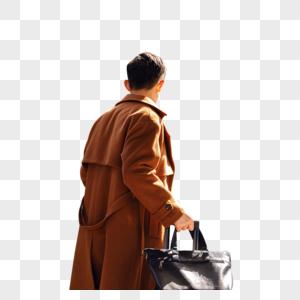 商务男性返乡赶高铁图片