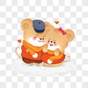穿情侣款的小老鼠图片