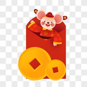 红包财神老鼠图片