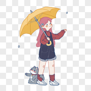 下雨天图片