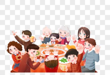 合家欢聚团圆饭图片