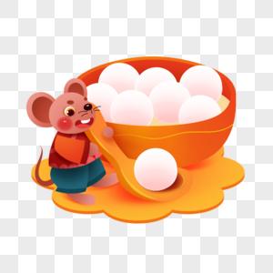 元宵节可爱老鼠图片
