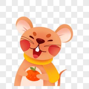 吃橘子的老鼠图片