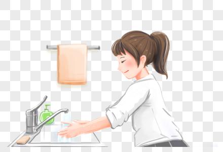 认真洗手预防病毒细菌图片