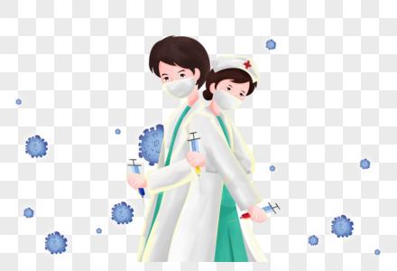武汉疫情之医生抗战病毒图片