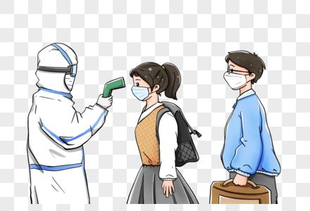 量体温预防新型肺炎冠状病毒图片
