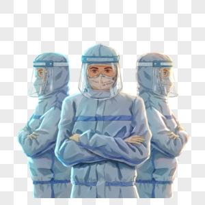 勇战疫情的医生图片