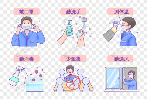新型肺炎防范守则图片