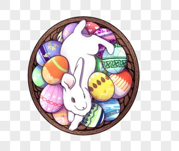 复活节兔子图片