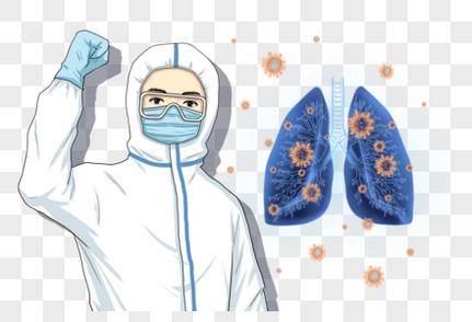 医生护士卡通图片_勇战疫情的医生元素素材下载-正版素材401675863-摄图网