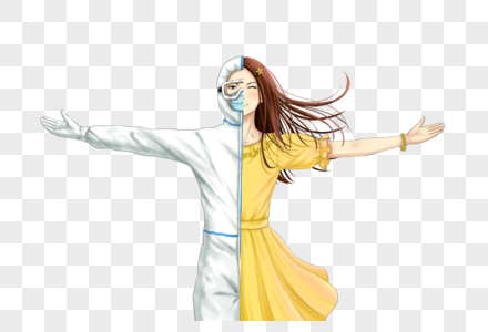 投身防疫工作的女孩图片