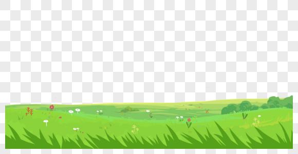 春天绿色草地草丛元素图片