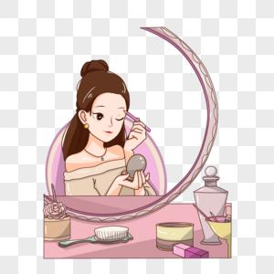 化妆的女神节图片