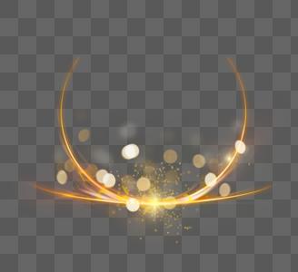 金色圆点线条光效图片
