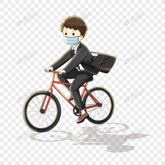 骑车上班的男孩图片