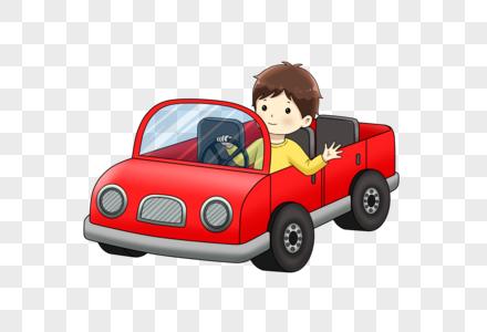 开汽车的小孩图片