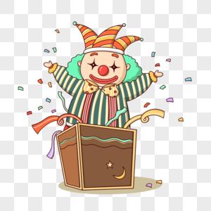 变魔术的小丑图片