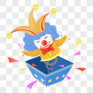 调皮弹簧小丑娃娃图片