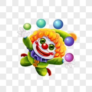 抛球的小丑图片