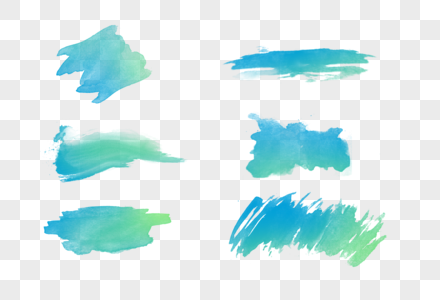 水彩笔触图片