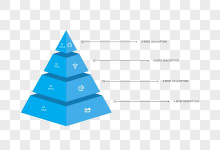 创意PPT金字塔统计元素图片