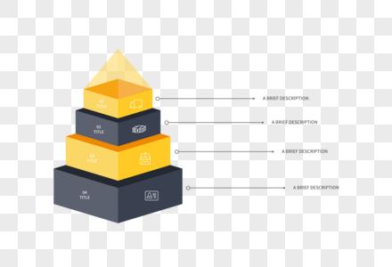 创意PPT金字塔元素图片