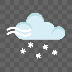 下雪标志图片