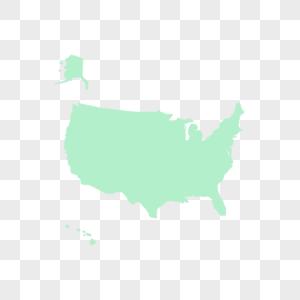美国地图图片
