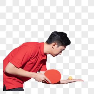 乒乓球训练的青年男图片
