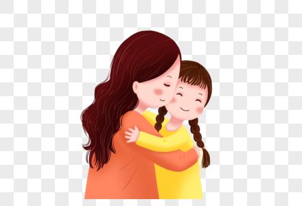 拥抱的母女图片