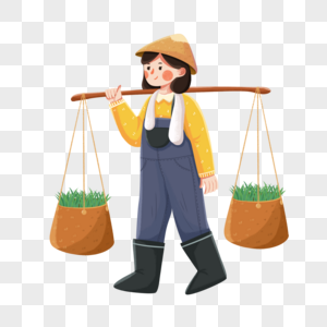 谷雨劳动的女孩图片