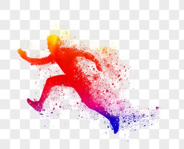 奔跑剪影图片