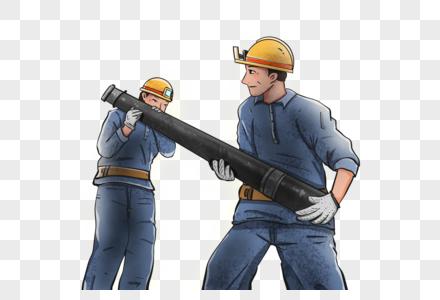 干活的煤矿工人图片