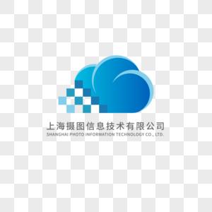 蓝色科技logo设计图片