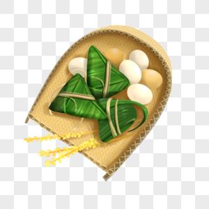 一篮子粽子和鸡蛋鸭蛋图片