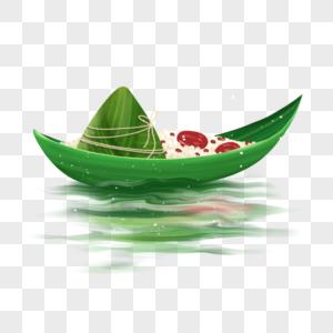 端午节粽叶船图片