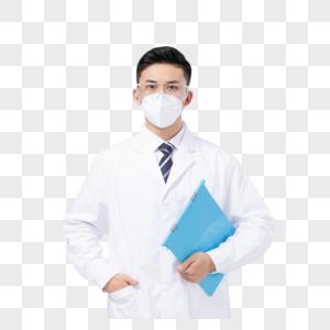 佩戴护目镜口罩拿文件夹的医生图片