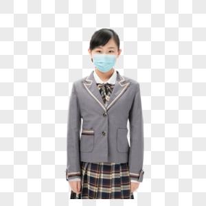 戴口罩的女孩形象图片