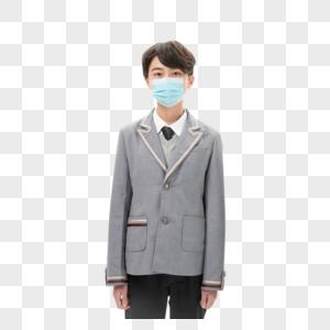 戴口罩的男孩形象图片