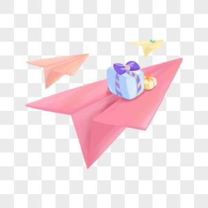 纸飞机送礼物图片