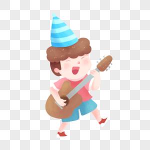 弹吉他的男孩图片