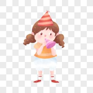吹喇叭的女孩图片