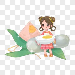 吃咸鸭蛋图片